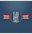 Flag Day Sale patriotic Emblem with Text vector image