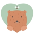 Animal set Portrait of a bear in love Flat vector image