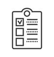 check clipboard line icon sig vector image
