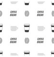 coffee shop seamless pattern vector image