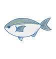 delicious seafood fish with natural nutrition vector image