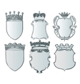 Heraldic element collection and Coat of arms vector image