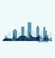 houston skyline buildings vector image