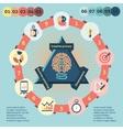 Idea infographics set vector image