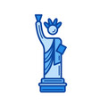 liberty statue line icon vector image
