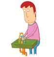 man using sink vector image