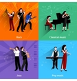 Musicians Flat Set vector image