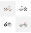 realistic old bmx brand elements set of vector image