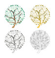 tree set isolated on white background vector image