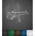tommy-gun icon vector image