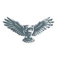 Owl - icon design vector image
