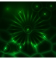 abstract dark background with glowing rays and vector image