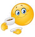 coffee emoticon vector image vector image