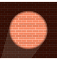 modern brick wall background vector image vector image