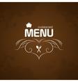Restaurant Menu on brown background vector image