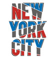 athletic new york city vector image