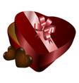 isolated chocolate box vector image