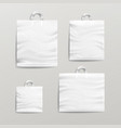 plastic shopping bags set white empty mock vector image
