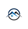 real estate and home buildings logo icons template vector image