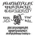 rock star gothic font vector image