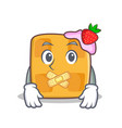 Silent waffle character cartoon design vector image