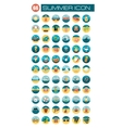 Summer flat icon vector image