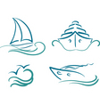 yachting symbols vector image
