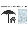 House under Umbrella Icon with 1000 Medical vector image