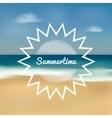 summertime beach vector image