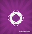 Office Media icon vector image vector image