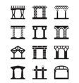 Different types of building structures vector image vector image