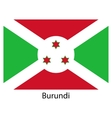 Flag of the country burundi vector image vector image