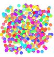 Colorful celebration background with confetti vector image vector image