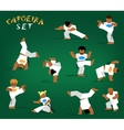capoeira set vector image
