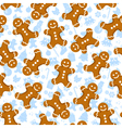 gingerbread pattern vector image vector image