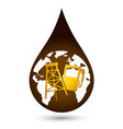 a drop of oil vector image