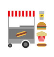 american fast food vector image