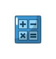 calculator technology to mathematics account vector image