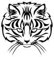 Cat muzzle black vector image