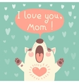 Greeting card for mom with cute puppy vector image