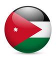 Round glossy icon of jordan vector image
