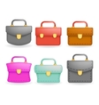 Schoolbag Realistic icons set education symbol vector image