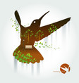 silhouette of hummingbird with park on exotic vector image