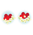 two compositions with hearts vector image