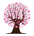 Decorative beautiful cherry blossom tree vector image
