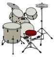 Cream percussion set vector image