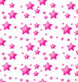 Seamless design with pink stars vector image