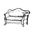 soft antique lounge vector image