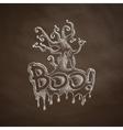 boo icon vector image