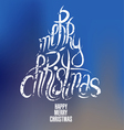Christmas tree calligraphy lettering vector image